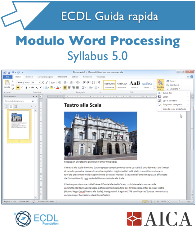 Guida rapida ECDL – Word Processing  Syllabus 5.0
