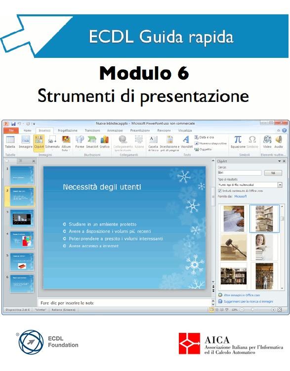 Guida rapida ECDL 6 - Strumenti presentazione